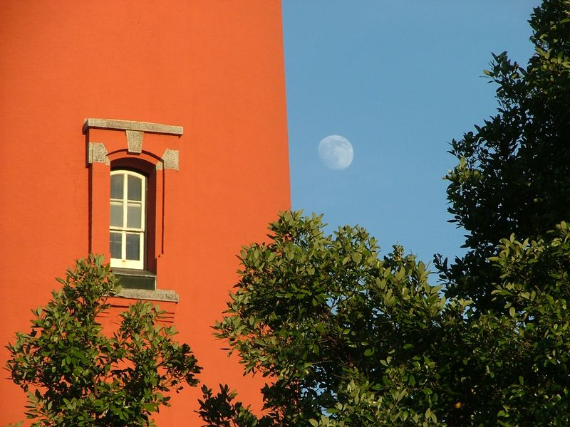 Ponce Inlet Window with Moon
